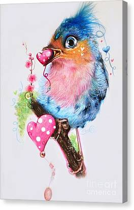 Love Bird Canvas Print by Sheena Pike