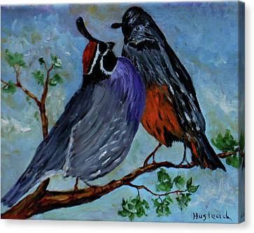 Love Birds Canvas Print by Brian Hustead
