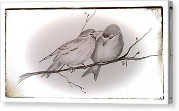 Love Birds Canvas Print by Ginny Youngblood