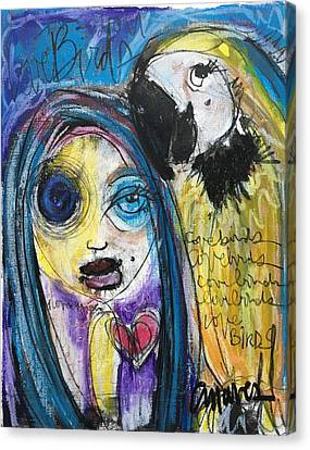 Love Birds Canvas Print by Laurie Maves ART