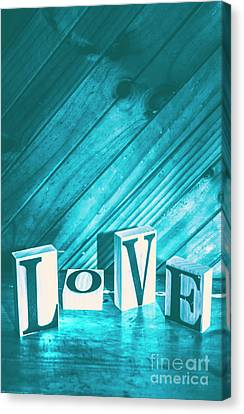 Backdrop Canvas Print - Love Blues by Jorgo Photography - Wall Art Gallery