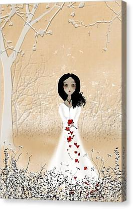 Melancholy Canvas Print - Love Can Touch Us One Time by Charlene Zatloukal