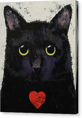 Love Cat Canvas Print by Michael Creese