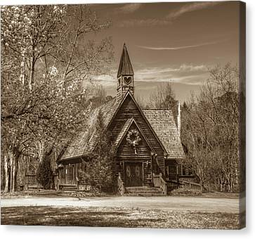 Love Chapel In Sepia Canvas Print