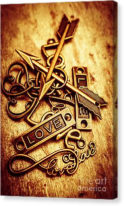 Backdrop Canvas Print - Love Charms In Romantic Signs And Symbols by Jorgo Photography - Wall Art Gallery