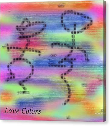 Love Colors Canvas Print