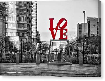 Franklin Park Canvas Print - Love Colors The World by Bill Cannon