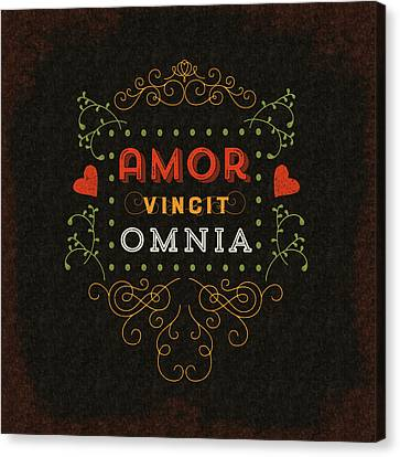 Love Conquers All Canvas Print by Antique Images