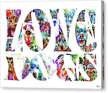Greyhound Canvas Print - Love Dogs by Daniel Janda