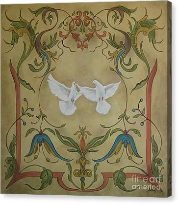 Love Doves Canvas Print by Jindra Noewi
