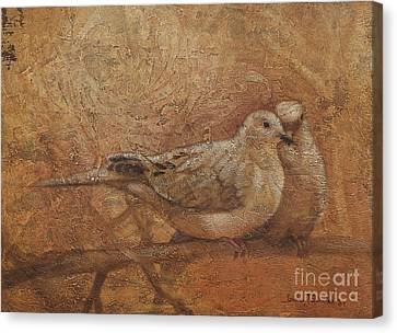 Love Doves Canvas Print by Sandra Quintus