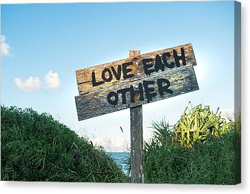 Love Each Other Canvas Print