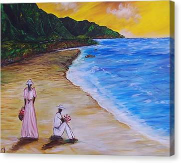 Canvas Print featuring the painting Love by Emery Franklin