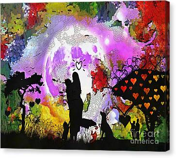 Love Family And Friendship In The Mix Canvas Print