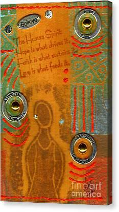 Love Feeds The Human Spirit Canvas Print by Angela L Walker