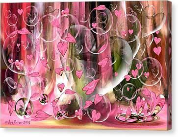 Love Floats Canvas Print by Joy Gerow