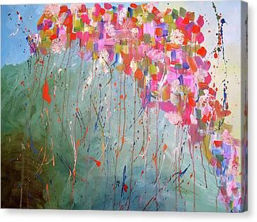 Love Flower Mountain Canvas Print