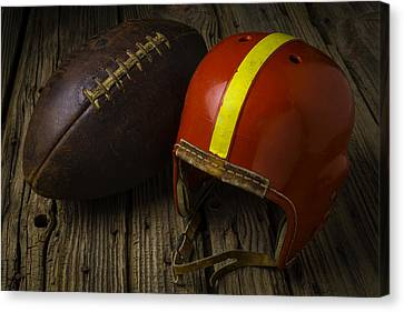 Sports Collectibles Canvas Print - Love Football by Garry Gay