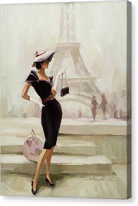 Love, From Paris Canvas Print