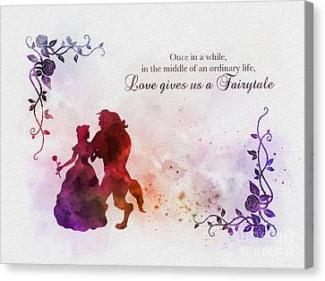 Couple Canvas Print - Love Gives Us A Fairytale by Rebecca Jenkins