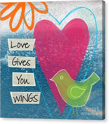 Love Gives You Wings Canvas Print by Linda Woods
