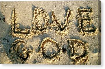 Love God Canvas Print