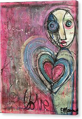 Canvas Print featuring the painting Love In All Things by Laurie Maves ART