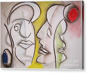 Love In Between Canvas Print