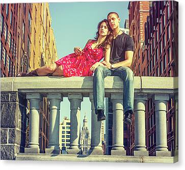 Love In Big City Canvas Print