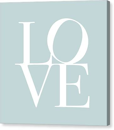 Love In Duck Egg Blue Canvas Print by Michael Tompsett