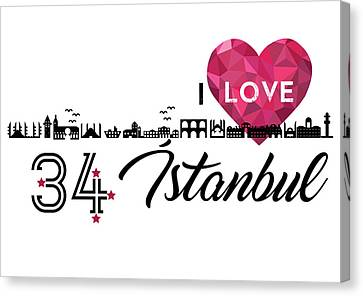 Love In Istanbul Canvas Print