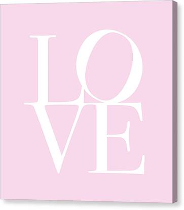 Love In Pink Canvas Print