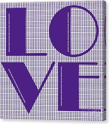 Love In Purple Canvas Print by Liesl Marelli