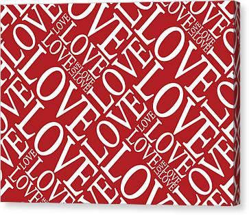 Love In Red Canvas Print