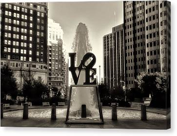 Love In Sepia Canvas Print by Bill Cannon