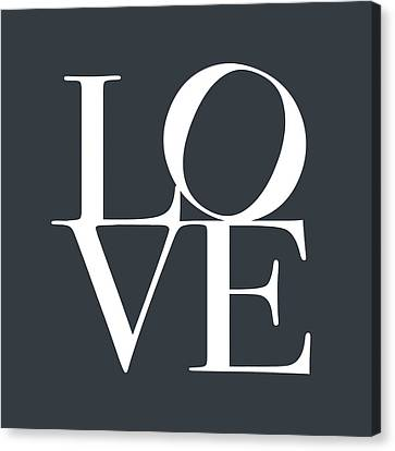 Love In Slate Grey Canvas Print