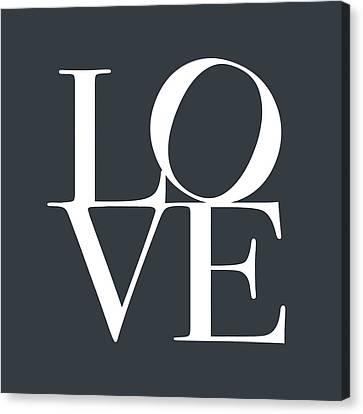 Love In Slate Grey Canvas Print by Michael Tompsett