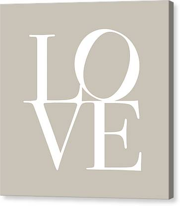 Love In Taupe Canvas Print