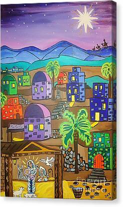 Love In The City Of David Canvas Print by Stephanie Temple