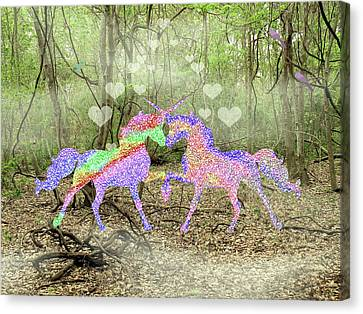 Love In The Magical Forest Canvas Print by Rosalie Scanlon