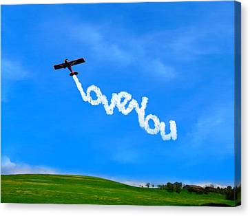 Love In The Sky Canvas Print by Bruce Nutting