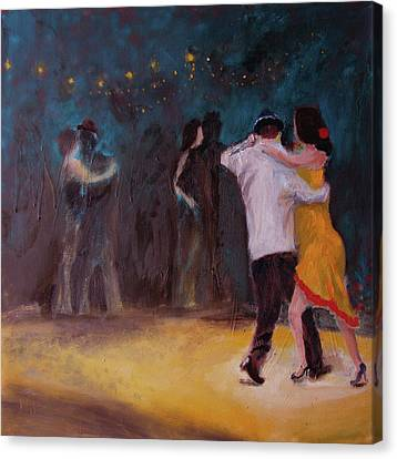 Canvas Print featuring the painting Love In The Spotlight by Keith Thue