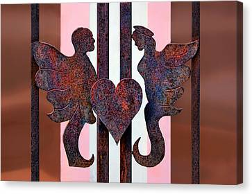 Love In Wrought Iron Canvas Print by Nikolyn McDonald
