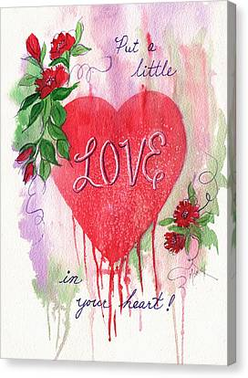 Love In Your Heart Canvas Print by Marilyn Smith