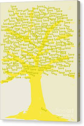 Canvas Print featuring the painting Love Inspiration Tree by Go Van Kampen