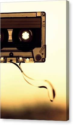 Cassettes Canvas Print - Love Is A Mixed Tape by Taryn