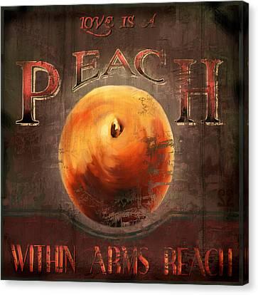 Love Is A Peach Canvas Print