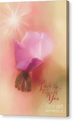 Kathy Rinker Canvas Print - Love Is Being With You by Kathleen Rinker