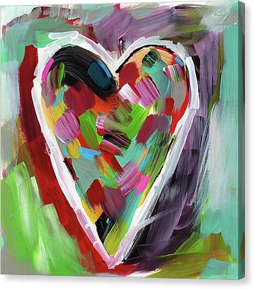 Expressionist Canvas Print - Love Is Colorful 3- Art By Linda Woods by Linda Woods