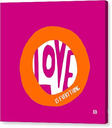Canvas Print featuring the painting Love Is Everything by Lisa Weedn